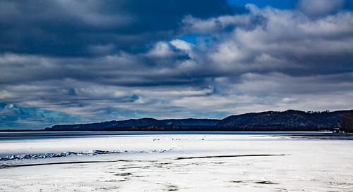 winter snow ice minnesota wisconsin frozen us unitedstates mississippiriver hdr potosi grantriverrecreationarea