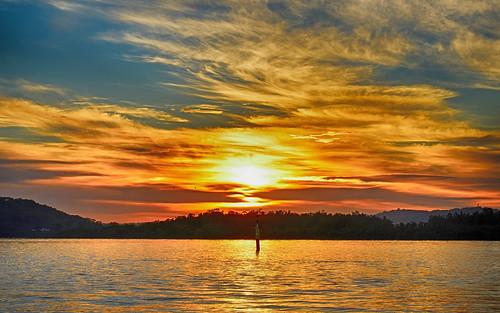 sea sky mountains water sunrise reflections dawn bay nikon scenery waterfront silhouettes australia views nsw daybreak brisbanewater woywoy seaviews d5500 nswcentralcoast centralcoastnsw