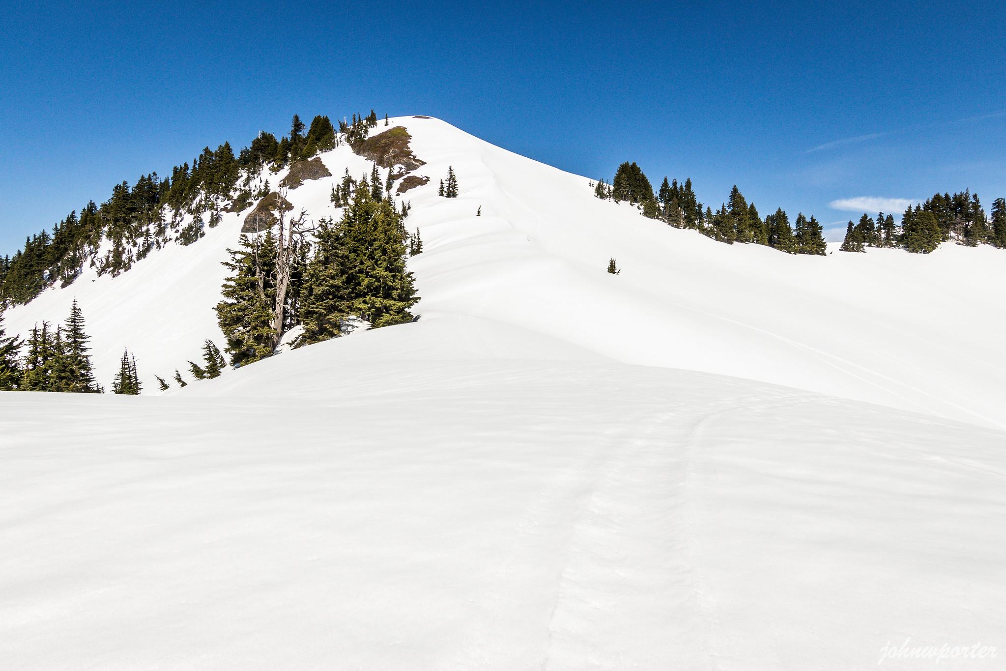 The last 300 feet to Excelsior Peak