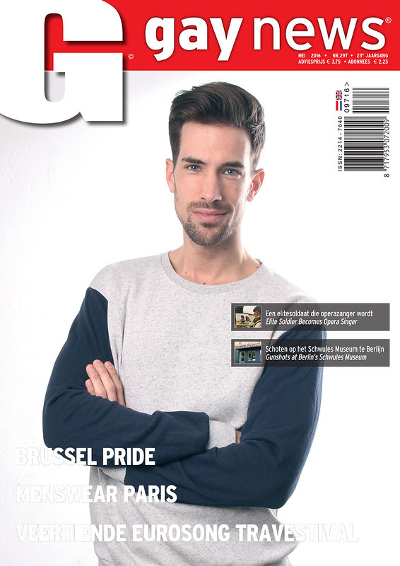 'Gay News' Mei 2016, in opdracht van Gay International Press