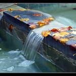 Petites chutes d'eau à Amiens.