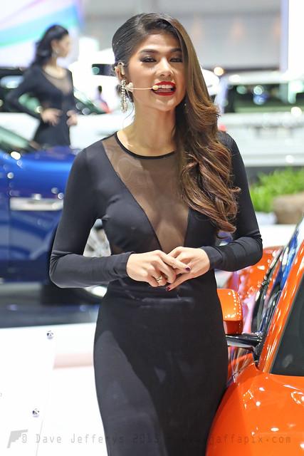 Stunning Jaguar Cars promo girl