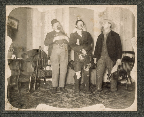 Men in silly costumes at a party