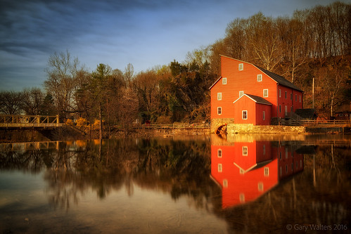 garywalters red mill historical longexposure sel1635z water reflections newjersey sky clouds light sonya7 redmill raritanriver river landscape