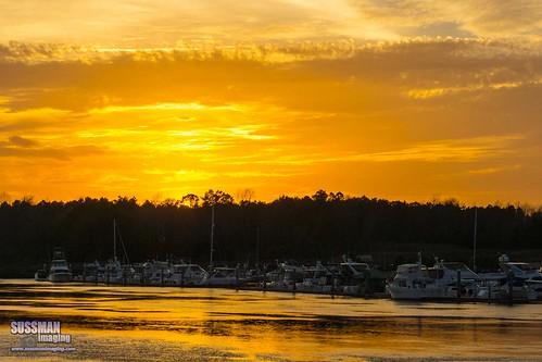 sunset sky reflection water clouds boats myrtlebeach southcarolina intracoastalwaterway northmyrtlebeach horrycounty thesussman sonyslta77 sussmanimaging