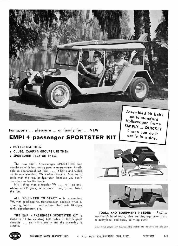 1967 EMPI 4-Passenger Sportster Kit | Alden Jewell | Flickr