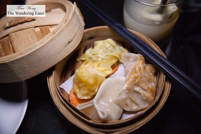 Dim sum - Dumplings of chicken, pork, salmon and scallop