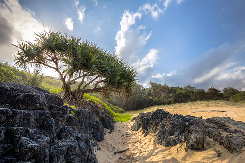 sunset beach hdr sawtell