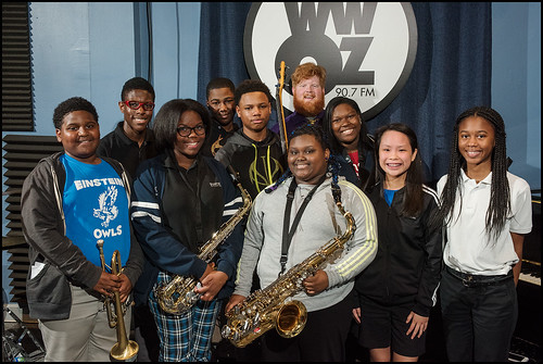 Einstein Charter Jazz Band: Jeriah Peters-Gibson (trumpet), Jase North (bass drum), Zeta Williams (alto), Tylan Williams (snare drum), Christopher Matthew (bass), N'ya Carey (tenor), Katlen Lacayo (baritone), Huong Tran (piano), Trinity Myers (piano). Doy