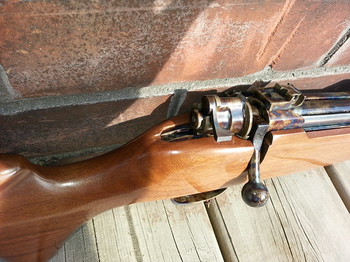 Custom Small-Ring M98 Mauser in 6.5x55 -- top right side action