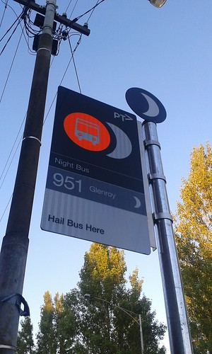 New night network bus stop 1