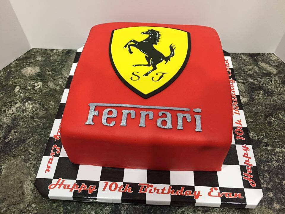 Magnificent Ferrari Birthday Cake Evan Cake Lady Wpb Flickr Funny Birthday Cards Online Ioscodamsfinfo