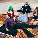 Laxus Dreyar (ラクサス・ドレアー), Freed Justine (フリード・ジャスティーン), Bickslow (ビックスロー) & Evergreen (エバーグリーン)