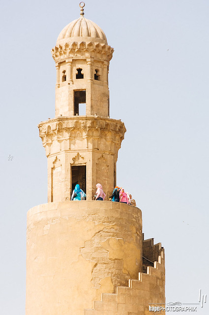 The spiral minaret of Ibn Tulun Mosque