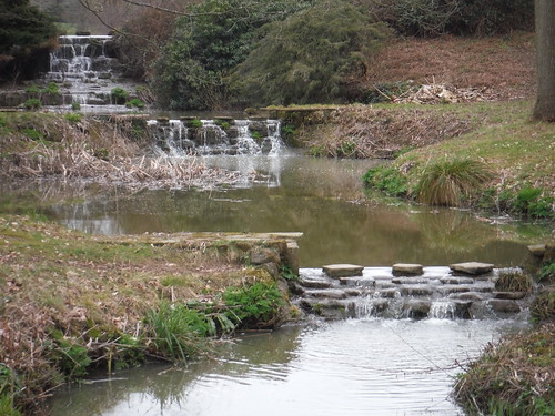 Outflow of ponds by Newplace Farm, close-up SWC Walk 262 Uckfield to Buxted
