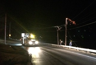 pole fire raquette road sparks   by digby fire dept