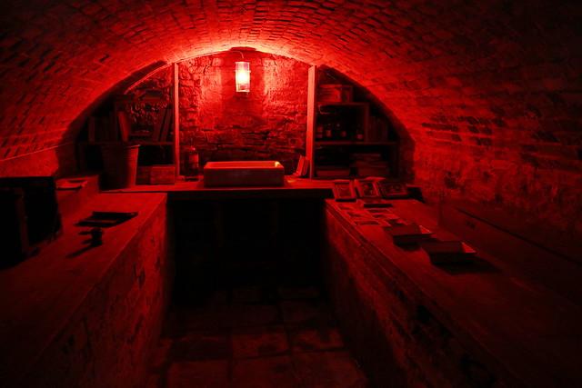 Canons Ashby Ye olde dark room
