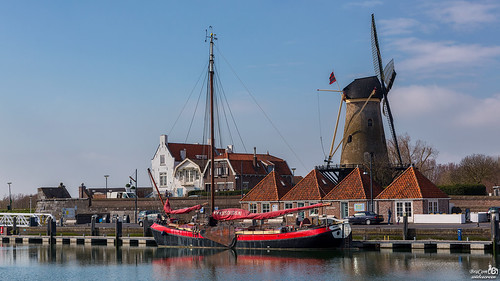 Sailboat Scaldis and windmill Den Haas | by BraCom (Bram)