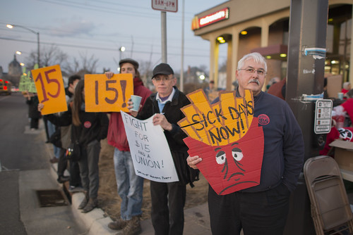 Fast food workers on strike for higher minimum wage and better benefits | by Fibonacci Blue