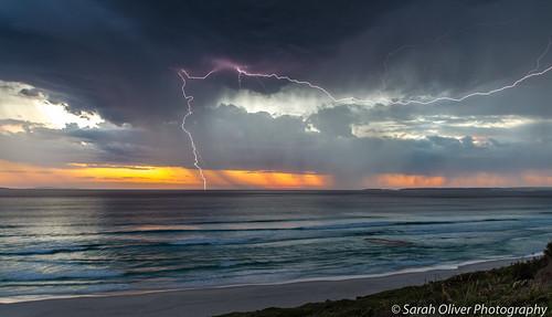 ocean sunset beach night canon landscape drive au great australia observatory bolt strike lightning westernaustralia 6d westbeach