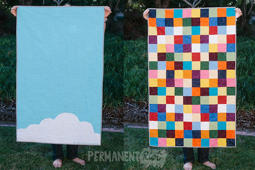 rainbow-patchwork-baby-quilt-2 | by katy regnier