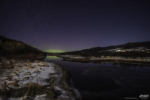 snow river stars aurora margaree
