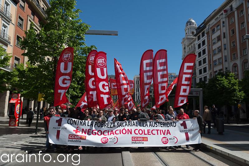 1demayo ZGZ CCOO y UGT Foto Pablo Ibáñez AraInfo (1)