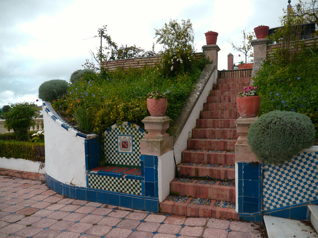 Ronda Andalousie Banc Et Escalier Du Jardin De La Casa D Flickr