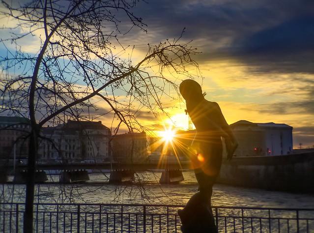 Morning walk at Strömparterren park, Stockholm, Sweden!