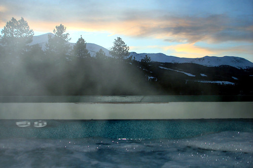 trees sunset sky mountain snow mountains hot tree water pinetree pine clouds rockies evening colorado rocky steam pines tub hottub co rockymountains breckenridge samoff breck breckenridgecolorado breckenridgeco hottubbeauty