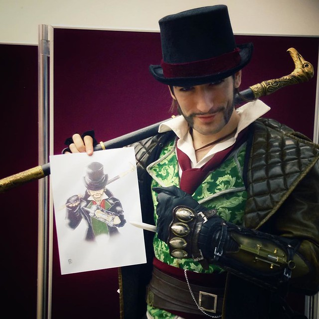 Jacob Frye approves again! 😄  Thanks to Kick Start Designs for this artwork gift! That was a beautiful sorprise, I love it!!! ⭐️  #JacobFrye #ACSyndicate #Assassin #AssassinsCreed #AssassinsCreedSyndicate #LeonChiro #LeonChiroCosplayArt #Foment