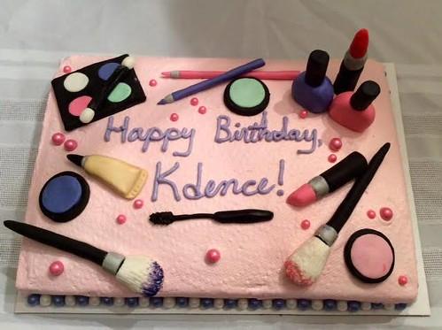 Makeup cake by Whitney, Linn County, IA, www.birthdaycakes4free.com | by Birthday Cakes 4 Free