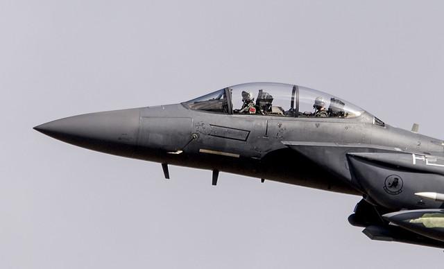 USAF F15 over mid wales ( mach loop )