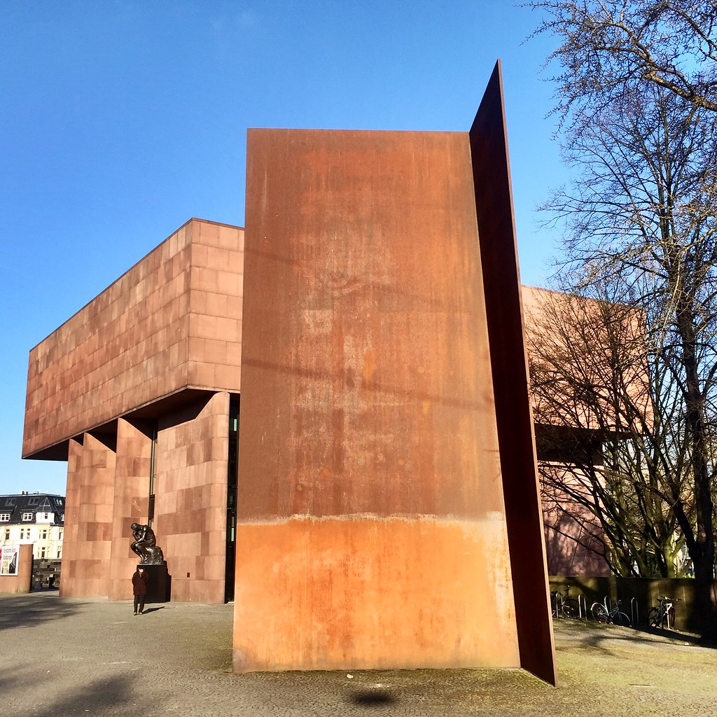 Richard Serra Skulptur Vor Der Kunsthalle Bielefeld G Flickr