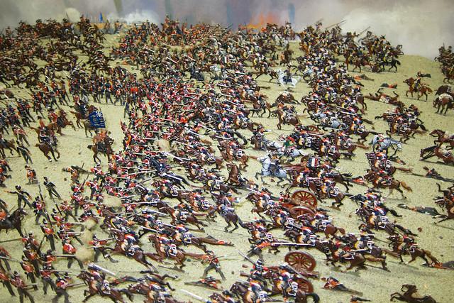 Massive cavalry charge