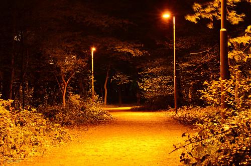 beleuchtete Wege