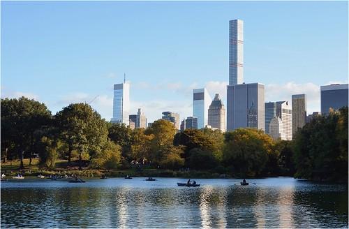 nyc skyline centralpark manhattan thelake centralparksud