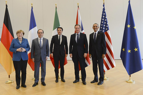 PM at G5 meeting in Germany | by UK Prime Minister