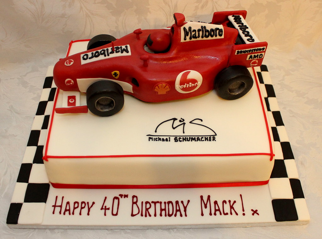 Wondrous Michael Schumacher F1 Car Birthday Cake I Am Now Offerin Flickr Personalised Birthday Cards Veneteletsinfo