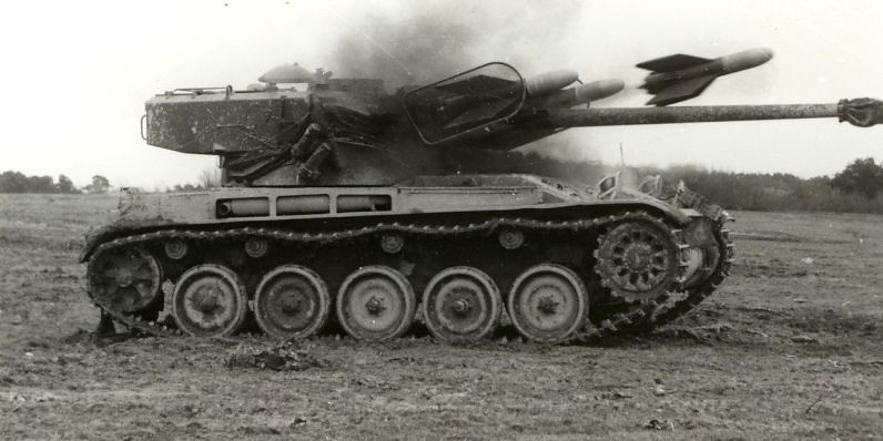 French AMX-13/75 with SS.11 ATGM
