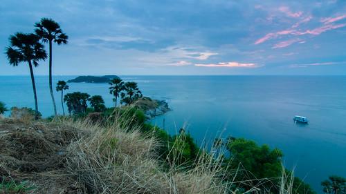 travel sunset landscape thailand dusk phuket phromthepcape