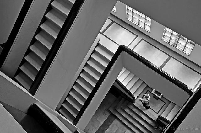 Geometric Staircases inside an art déco building - Vertigo Series