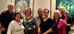 Dr. Adelman and his wife hosted JJ Jolliff, Dee Dee and Glen Heard, Linda and George Brooks. Guess Who's Coming to Dinner is one of the most fun socials the club holds. Guests do not know who their host is until the door opens. Hosts do not know who their guests will be.