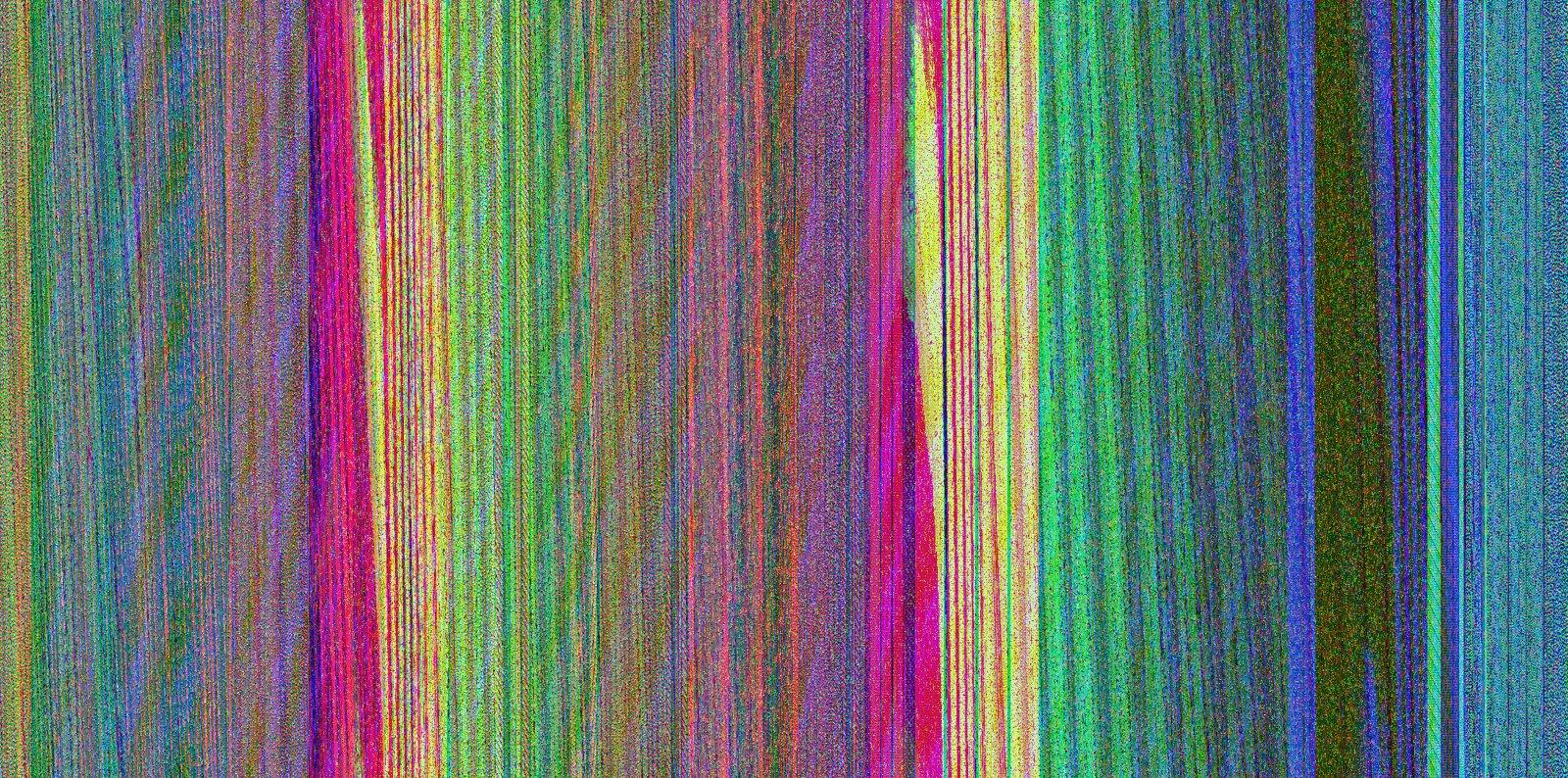 Photoshop Glitch: grainy digital rainbow