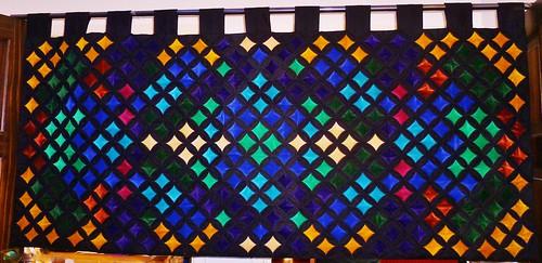 Velvet Cathedral Windows patchwork 5