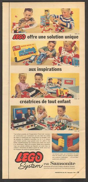1964 French Canadian LEGO ad