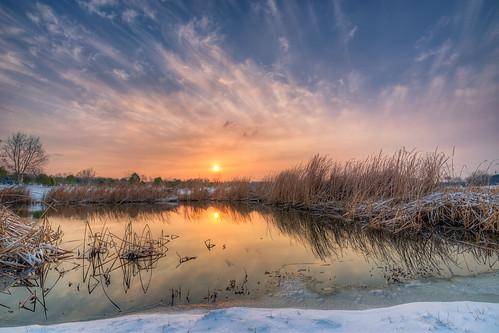park winter wild sky cloud lake snow cold reflection nature water sunrise landscape dawn nikon hdr d800 nikond800 tamronsp1530f28