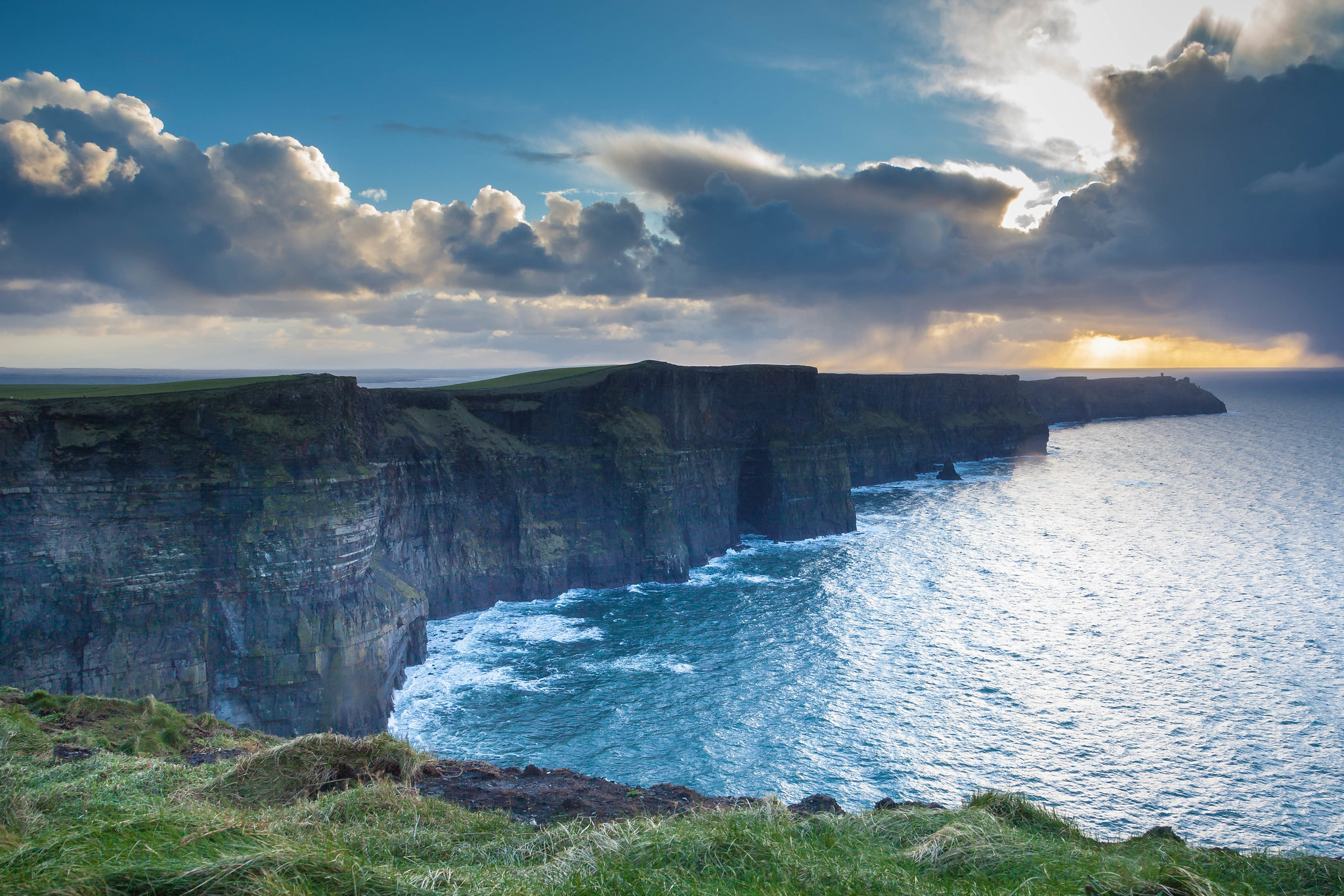 Sunset On The Cliffs Of Moher