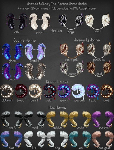 [Grixdale & Atooly] The Reverie Horns Gacha | by .rockstarroo. [atooly]