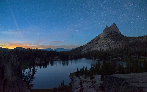 Nightfall at Cathedral Peak | by Steven Christenson